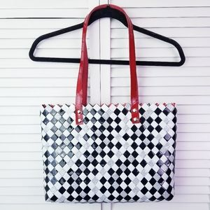 NWOT Nahui Ollin Checkered Newspaper Bag Purse